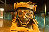 Head of an Olmec, sculpture at the museum Museo de Antropologia, Jalapa, Veracruz Mexico, America