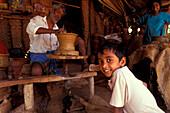 Potter at work, Wellawaya, Sri Lanka