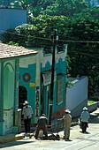 Strasse am Zocalo in Santiago, Veracruz Mexico