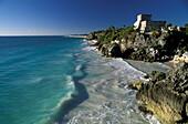 Ruin of Tulum at the coast, Yucatan, Quintana Roo, Mexico, America