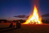 Bonfire on Midsummer, Iffeldorf, Bavaria, Germany
