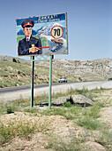 Road sign, Silk Road Uzbekistan