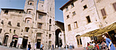 Place in the city, San Gimignano, Tuscany Italy