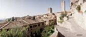 Street in Certaldo, Chianti, Tuscany Italy