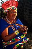 Zulu Frau, Suedafrika