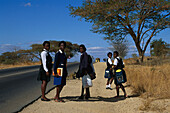 Girls go to school, South Africa-