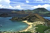 Volcanic landscape of Bartolomé Island, Galapagos Islands, Ecuador, South America