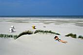 Dunes, Beach, Juist, East Frisia, North Sea, Lower Saxony, Germany