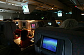 Night Flight, Boeing Jumbo, Movie, Inflight entertainment Economy, Long Distance Flight