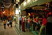 Lan Kwai Fong, Bars, Restaurants, Victoria Island, Hongkong China