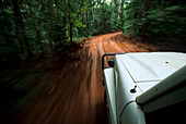 Four wheel drive tour on Old Telegraph Track,  Cape York, Queensland, Australia