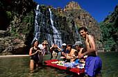 Lunch at Twin Falls Kakadu National Park, Twin Falls Kakadu National Park, Northern Territory, Australia