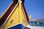 Boot mit magischen Augen, Marsaxlokk Malta