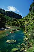 Kayaking, Pororari River, Paparoa National Park, South Island, New Zealand