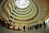 Entrance hall of Guggenheim Museum, Manhattan, New York, USA, America