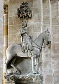 Bamberger Reiter, statue at Bamberg cathedral, Bamberg, Bavaria, Germany, Europe