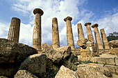 Temple ruin, Valley of temples, Agrigento, Sicily Italy