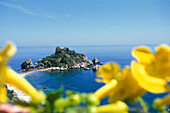 View at Isola Bella, Taormina, Sicily, Italy, Europe