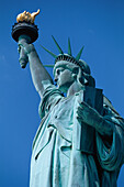 Statue of Liberty under blue sky, New York City, USA, America