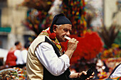 Folklore, Bauernwagen, Montreale, Sizilien Italien