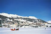 Pferdeschlitten, St. Moritz, Graubuenden, Schweiz