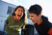 Screaming kids 11-12 years, , Children People