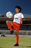Junger Fussballspieler, Capetown Southafrica