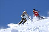 Skiers, Lech, Austria
