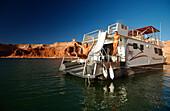 Houseboat, Lake Powell, Arizona-Utah-USA