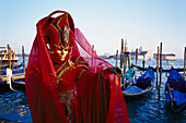 Woman with mask and costume, Carnival of Venice, Italy
