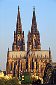 The Cologne Cathedral in the sunlight, Cologne, North Rhine-Westphalia, Germany, Europe