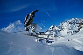 Skifahren, Action, Stubaital Oesterreich
