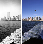 New York City, before and after the destruction of the World Trade Center WTC, , Images of a City Buch, S. 60/61