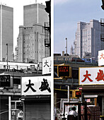 Chinatown, NYC before and after, USA, New York City, before and after the destruction of the World Trade Center WTC, , Images of a City Buch, S.78/79