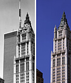NYC before and after, USA, New York City, before and after the destruction of the World Trade Center WTC, Images of a City Buch, S.32/33