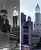 Wookworth Building, USA, New York City, before and after the destruction of the World Trade Center WTC, , Images of a City Buch, S. 38/39