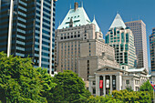 Hotel Vancouver & Art Gallery, Robson Street, Vancouver, British Columbia, Canada