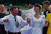 Celebrate a wedding, Dekabristen Square St. Petersburg , Russia