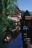 Klein-Venedig, Quartier de la Krutenau, Colmar, Altstadt, Elsass Haut-Rhin, Frankreich