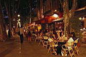 Restaurant, Cafe, Cours Mirabeau Aix-en-Provence, Frankreich