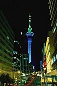Auckland mit Skytower, Neuseeland
