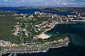 Sydney Harbour from the air, Australien, NSW, Sydney Harbour aerial photo, Luftaufnahme von Harbour und Stadtviertel