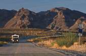 Route 66 bei Oatman, westlich vom Sitgreaves Pass Arizona, USA