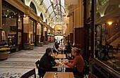 Block Arcade, Collins Street, Melbourne, Australia, Victoria, Cafe in Block Arcade, Period architecture