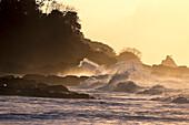 Sandy beach near Black Rock, Rocks and surf, north coast of Tobago, West Indies, Caribbean