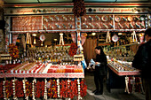 One woman buying spices, market stand with spices, Market hall, Budapest, Hungary