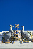 Coat of Arms, heraldic animals, old Parliament House, Provisional Parliament House, Canberra, Western Australia, Australia