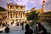 Tourists, Antique City of Ephesus, Turkish Aegean, Turkey