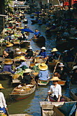 Floating Market, Bangkok, Thailand, South East Asia, Asia