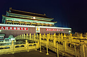 Gate of Heavenly Peace by night, Palace of the Emporer, Forbidden City, Beijing, China